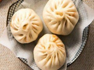 Bánh bao nhân kim chi